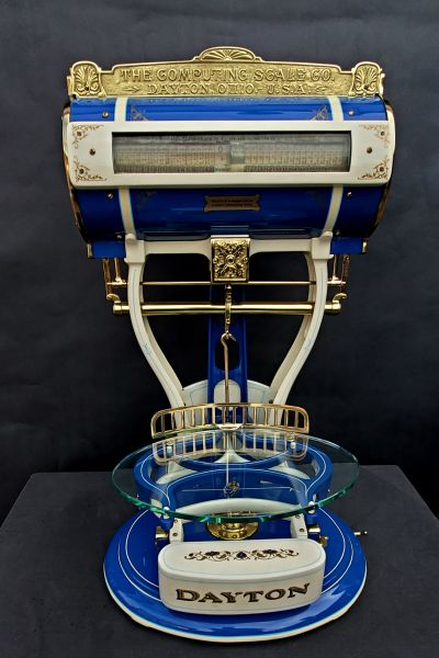 "Dayton ""Baby"" Barrell Scale 3/4  size $1750."